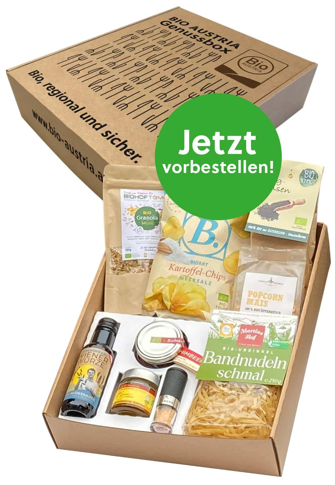 BIO AUSTRIA Genussbox jetzt besetellen