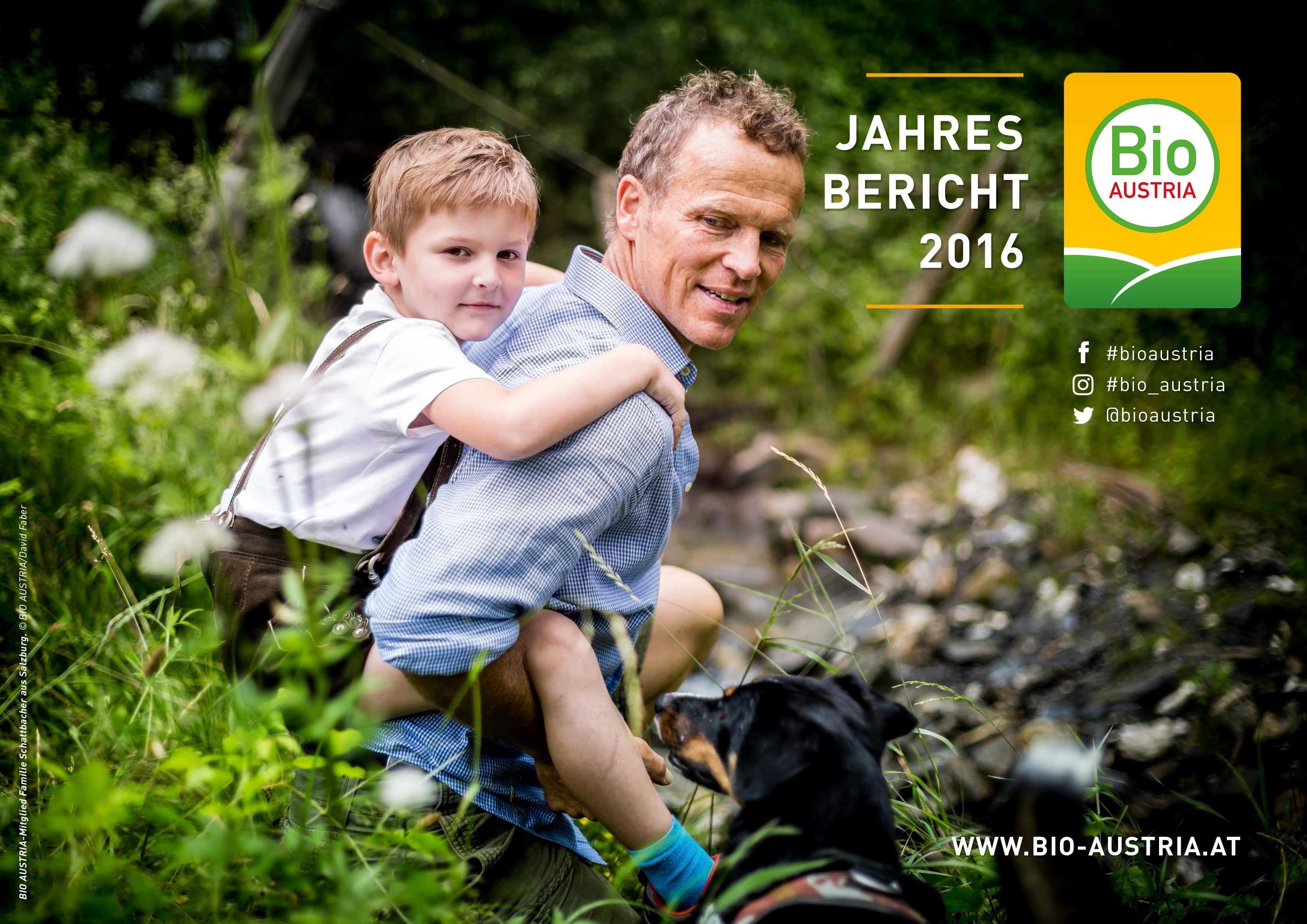 BIO AUSTRIA - Jahresbericht 2016 Titelblatt