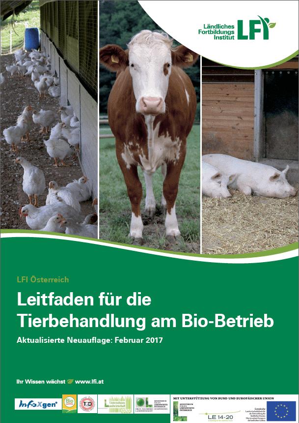 Titelblatt Leitfaden für die Tierbehandlung am Bio-Betrieb