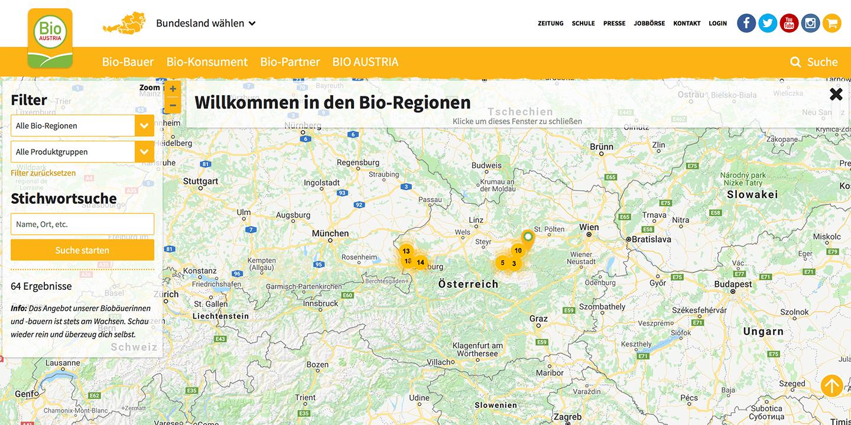 Bio-Regionen-Map