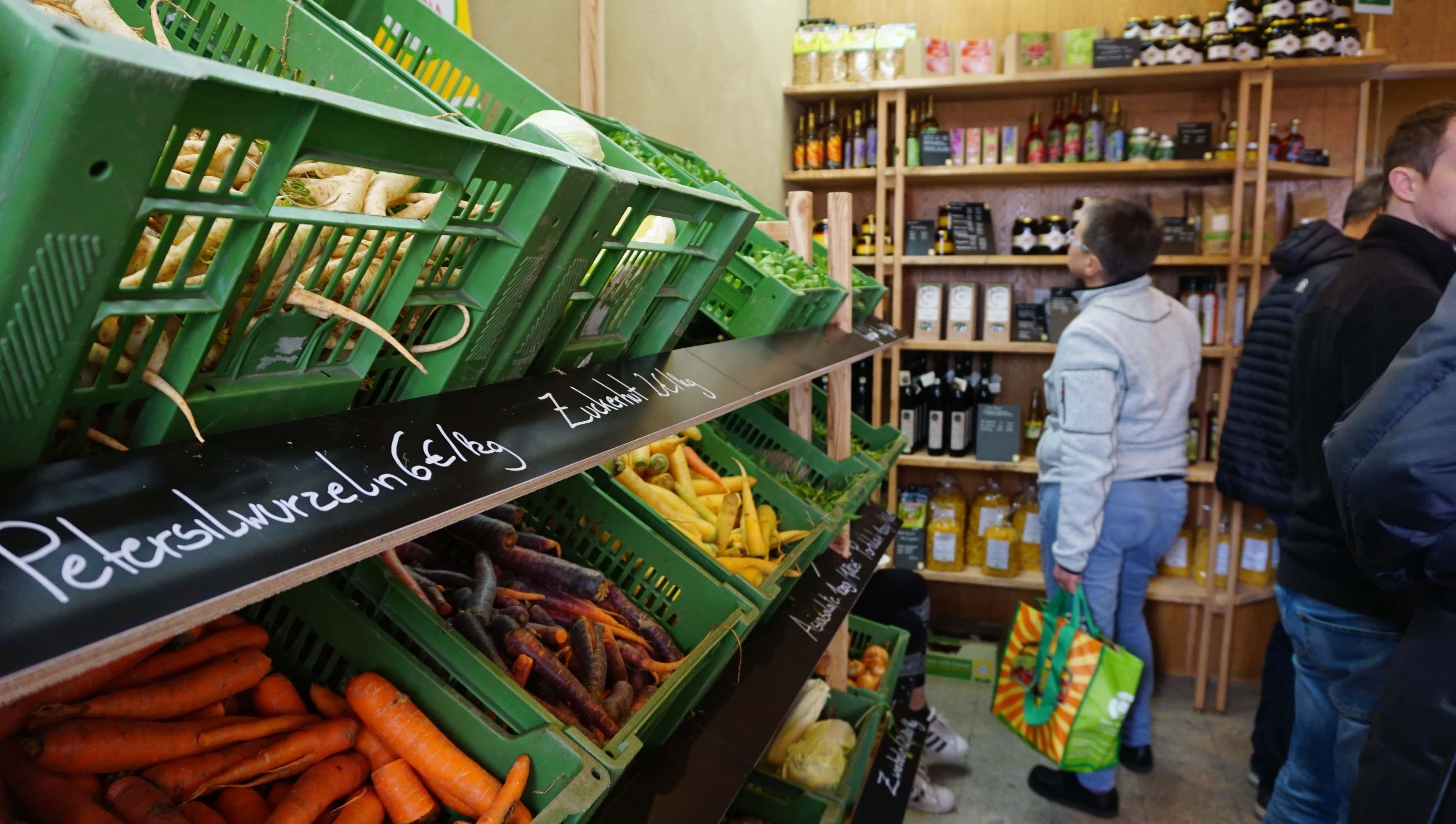 Geschäftsraum des Bio-Bauernladen Natters