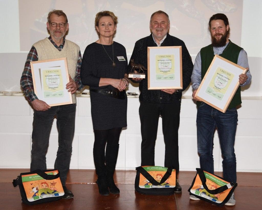 Gewinner des Bio-Fuchs 2018 mit Gertraud Grabmann