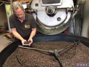 Kaffeebohnenröstung