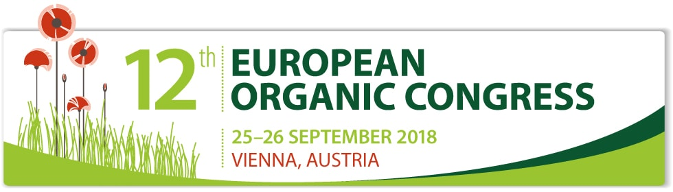 Banner zum 12. European Organic Congress in Wien