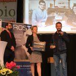 BIO GASTRO TROPHY 2018 Gewinner BioHansinger bei der Verleihung auf der Bühne.