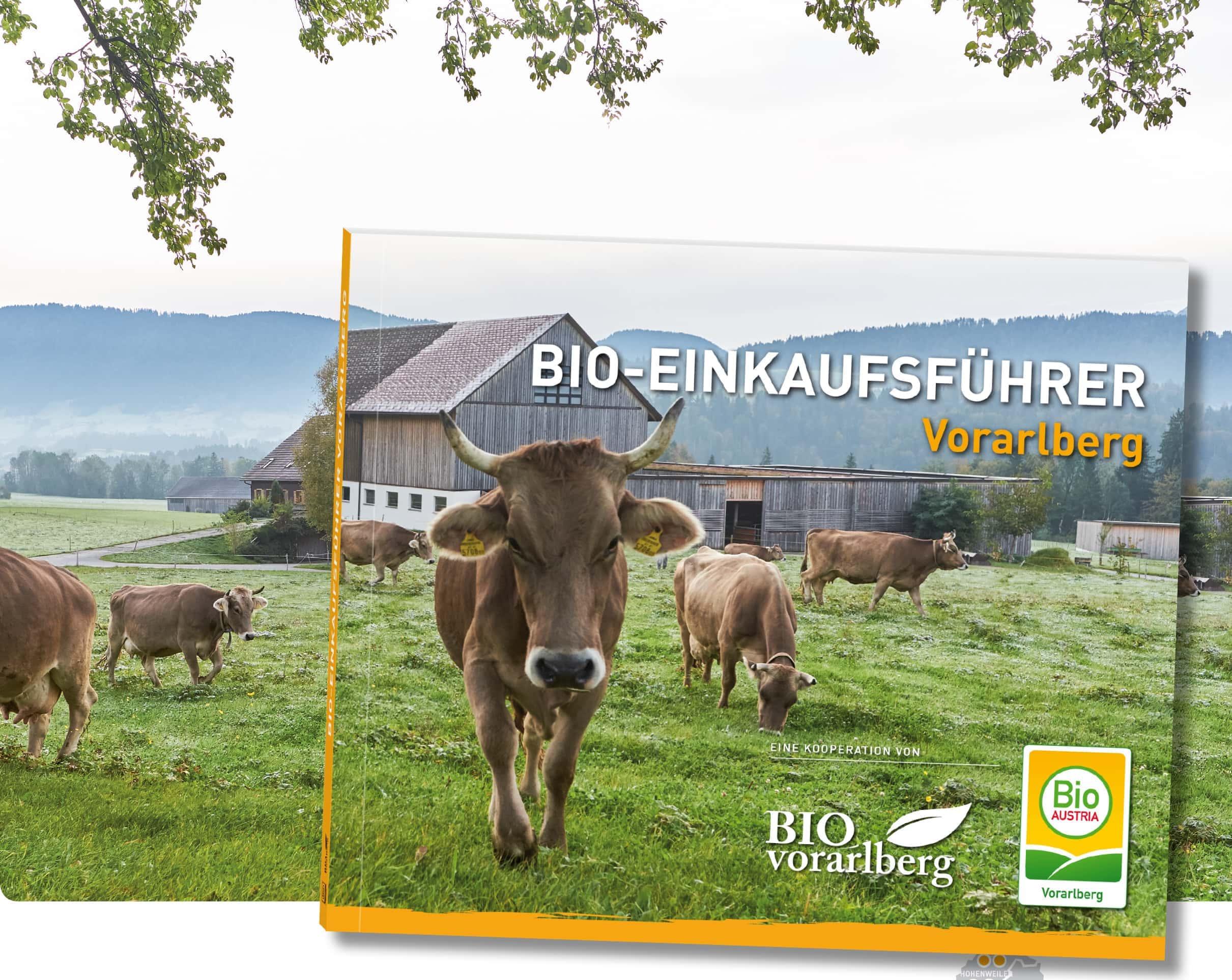 Titelblatt Bio-Einkaufsführer Vorarlberg