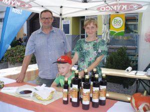 Stand mit Kürbiskernöl am Biofest Frauenkirchen 2016
