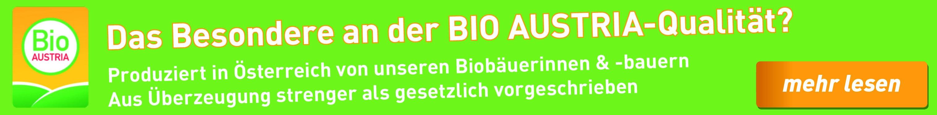 BIO AUSTRIA Qualität