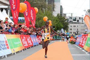Läufer beim Salzburg Marathon