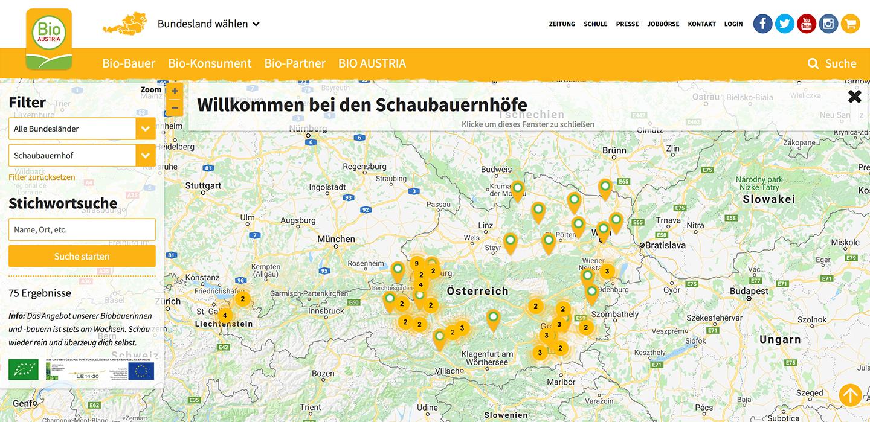 Schaubauernhöfe-Map