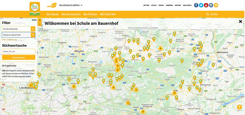 Schule am Bauernhof-Map