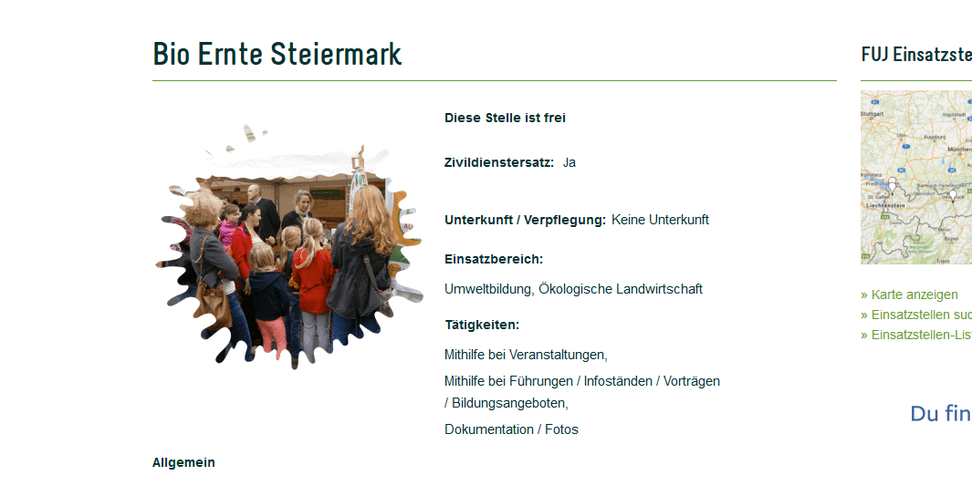 Bio Ernte Steiermark Jobangebot