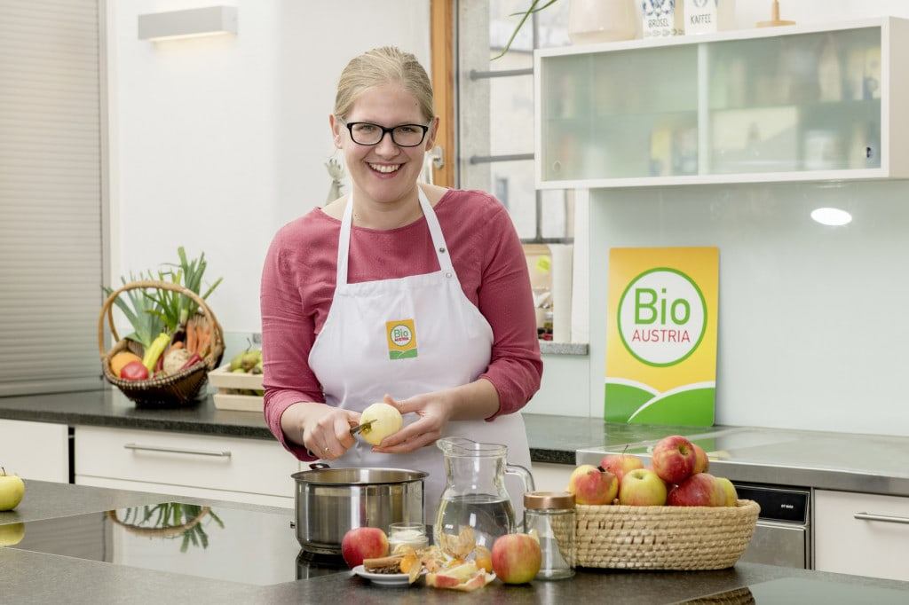 Verarbeitung von Bio-Äpfel