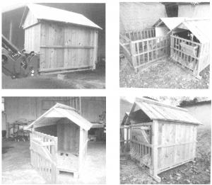 Vollholzhütten für Kälber