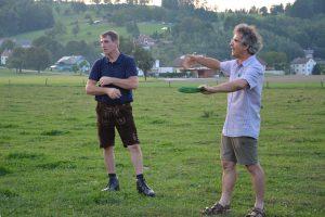 Helmut Heiden und Dr. Leisen beim Sommertreffen