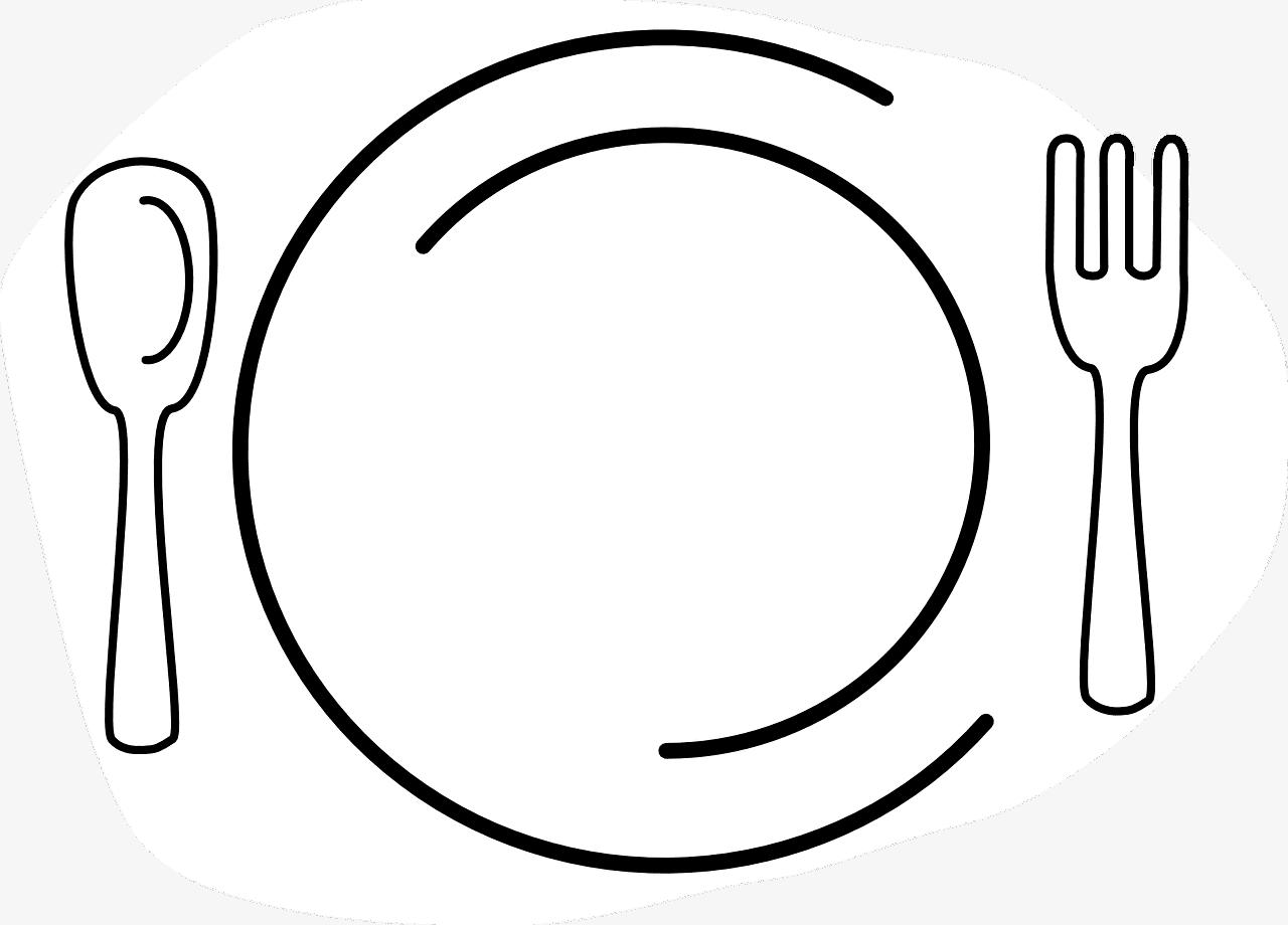 Symbolbild Teller und Besteck