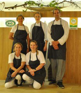 Küchenleiter Gorfer und sein Team