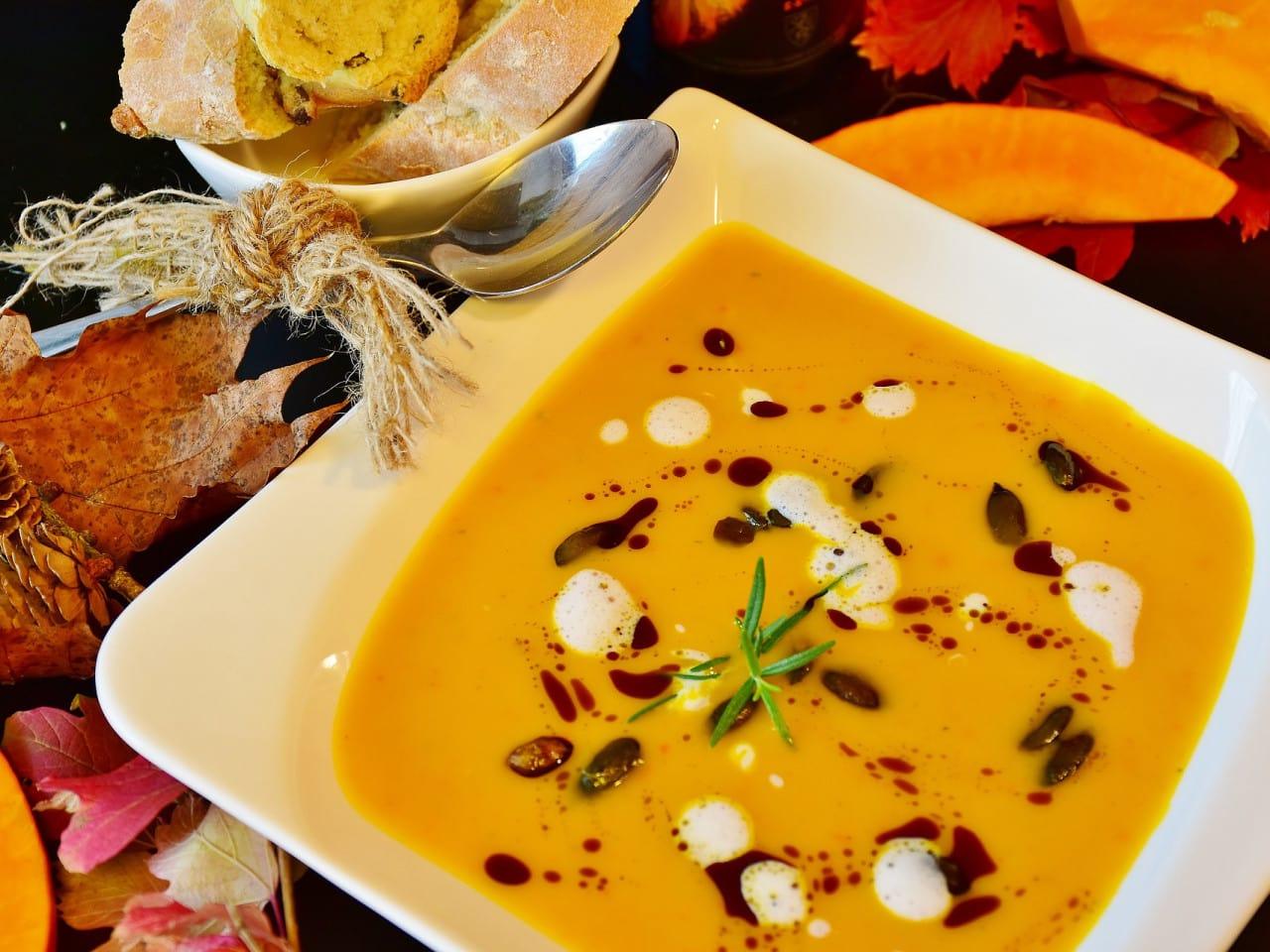 Kürbismost-Suppe